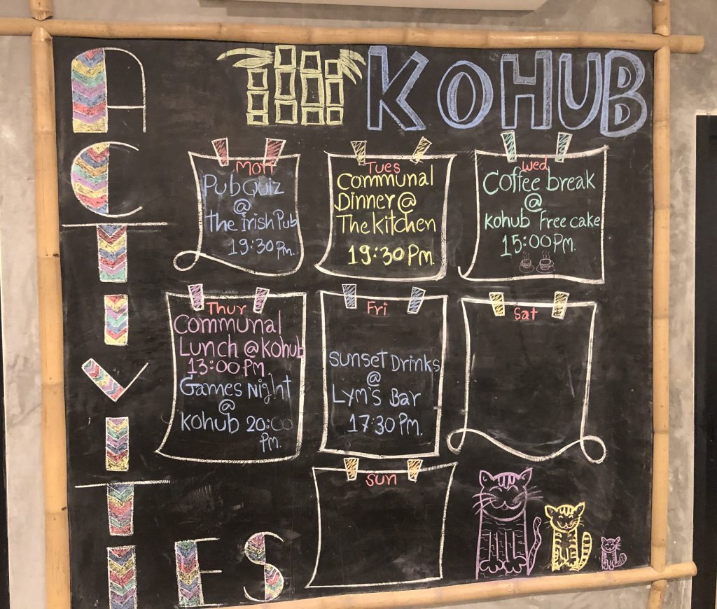 Kohub digital nomad community social events